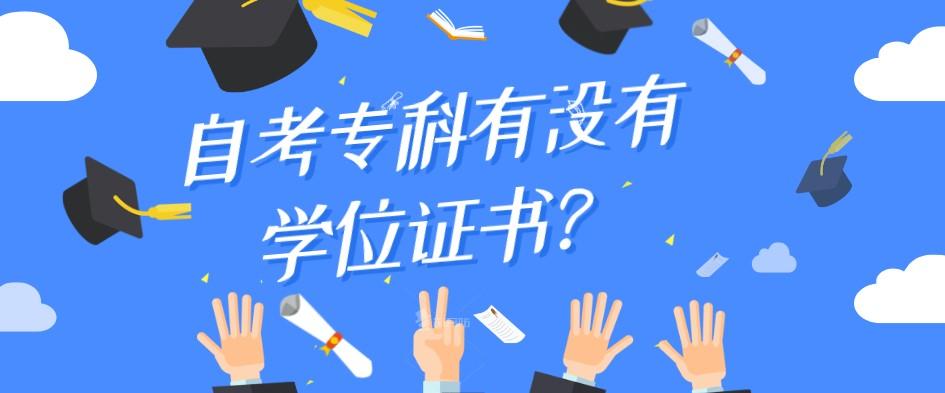 自考专科有没有学位证书?